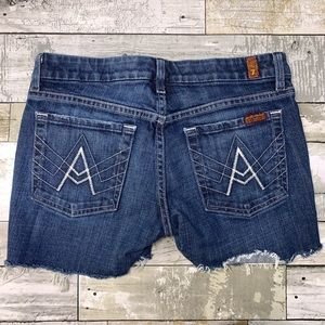 7 for all mankind cut off A pocket jean shorts